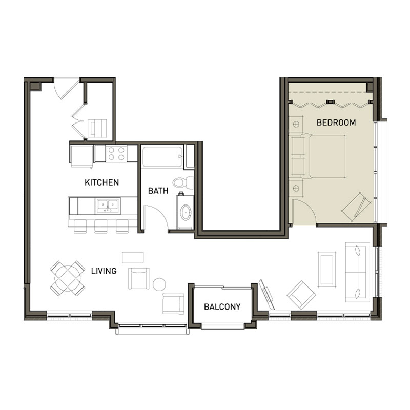 Unique 1 Bedroom Apt