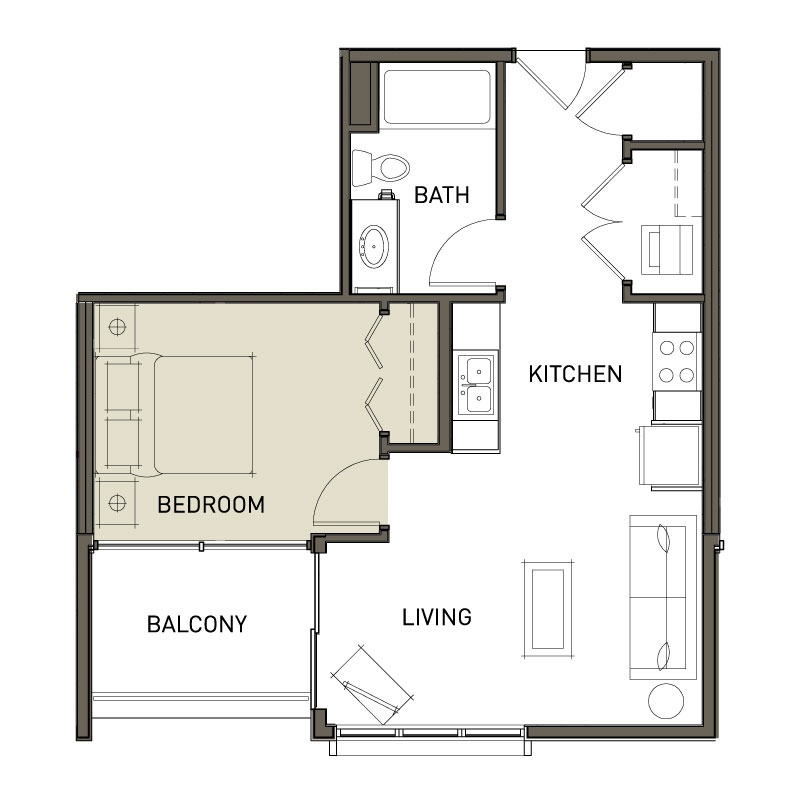 Open Concept 1 bedroom
