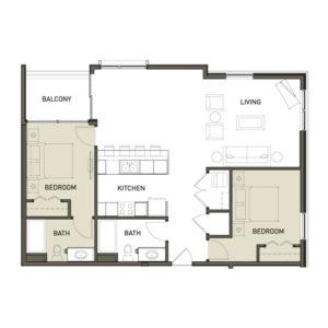 2D-2-Bedroom