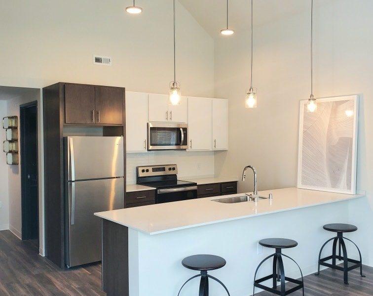 Kitchen with Island and Sink Gallatin